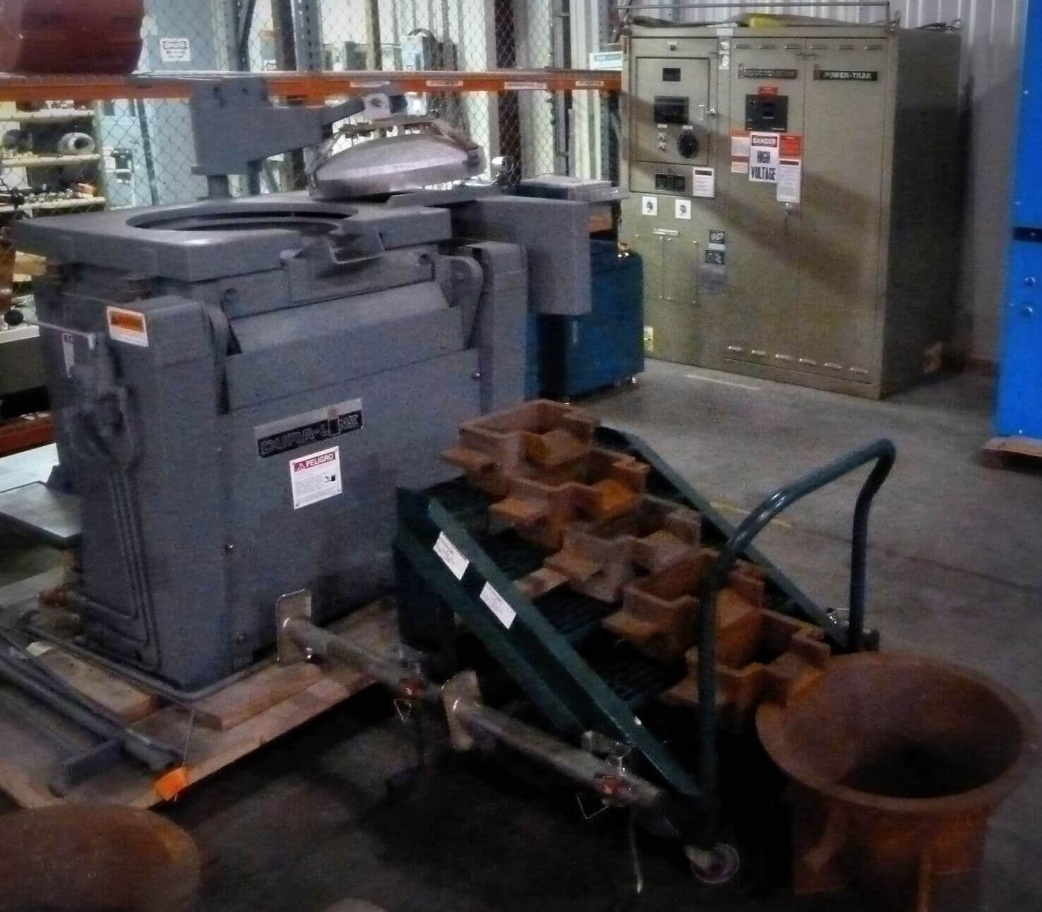 Electric Hydraulic Pump >> Used Inductotherm Induction Melting Furnace for Sale ...