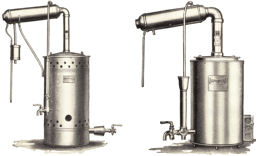 how to draw distillation apparatus