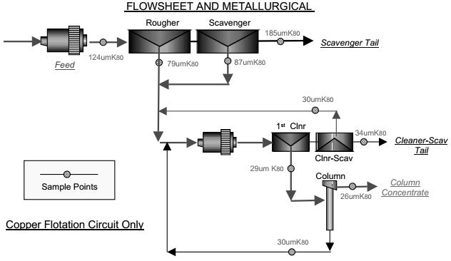 evaluating copper rougherscavenger flotation circuit