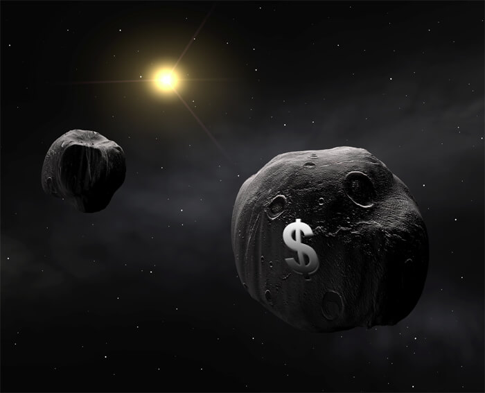 Who owns the asteroids that some companies want to mine in space?