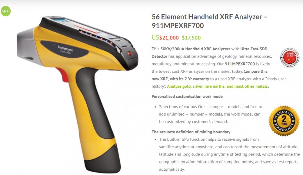 Portable XRF Analyzer & Price List
