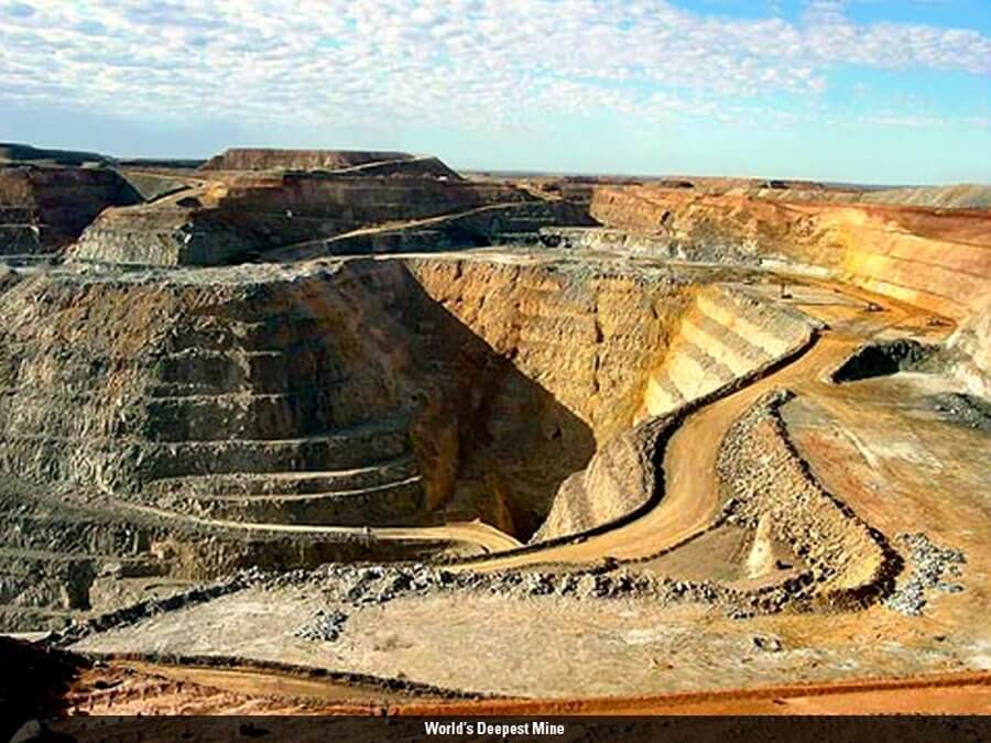 south africas mponeng mine is the worlds deepest sending miners 24 miles underground in search of gold its so deep it could fit 10 empire state buildings stacked on top of each other says the financial times