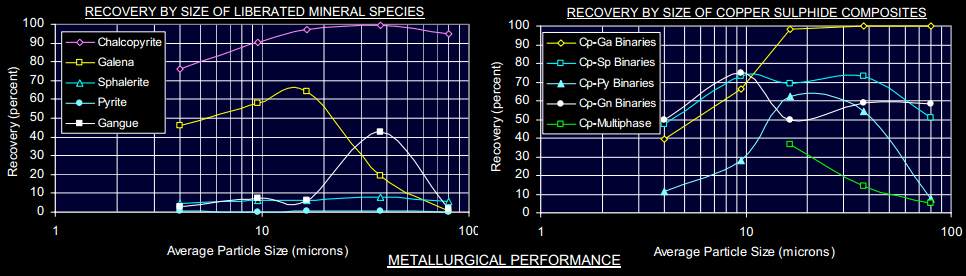 flotation RECOVERY BY SIZE OF COPPER SULPHIDE