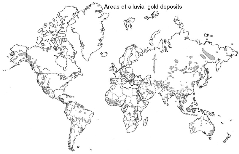 World gold deposits map world map gold deposits alluvialplacergolddepositmap alluvialplacergolddepositmap gumiabroncs Images