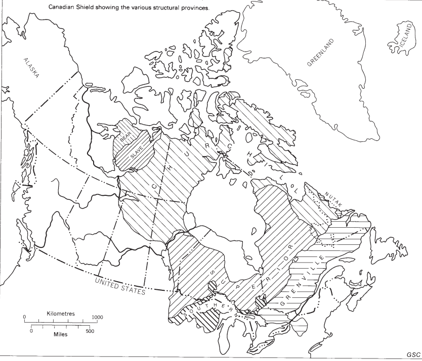 Map Gold Deposits in Canada