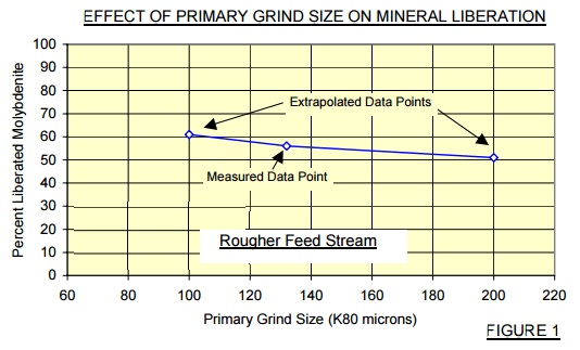 EFFECT OF PRIMARY GRIND SIZE ON MINERAL LIBERATION