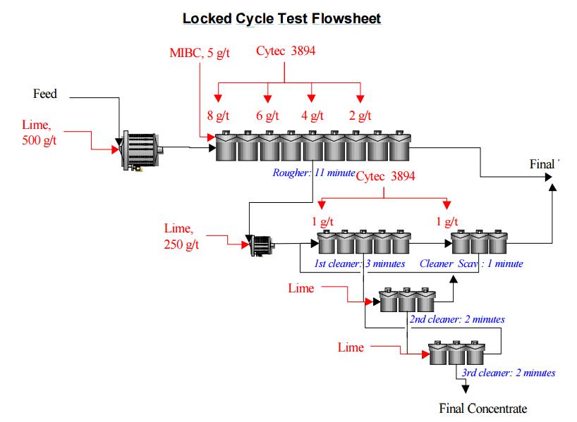 Locked Cycle Test Flowsheet