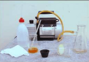 Use vacuum air is faster. Disadvantages are expensive and rare. If you do not plug well, polluted sediment will flow out