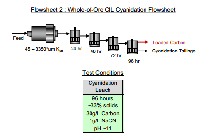 Whole Ore CIL Cyanidation of gold