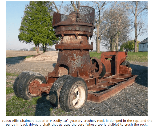 """Allis-Chalmers_Superior-McCully_10""""_gyratory_crusher"""