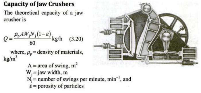 Estimate Jaw Crusher Capacity