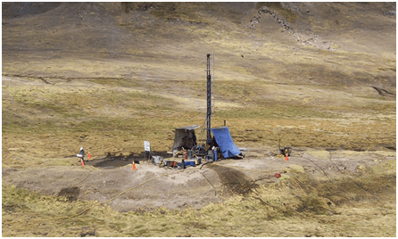 Samples can be obtained by drilling programs