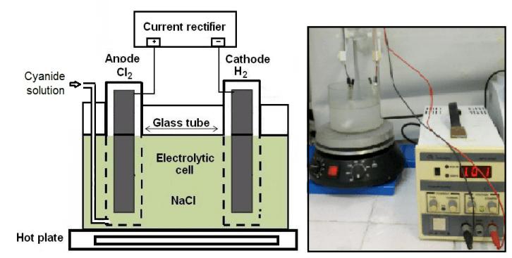 Electrolytic Oxygen in Cyanide Solution