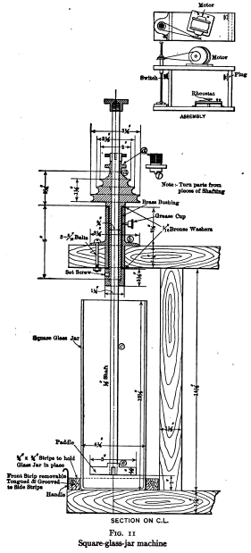 Square-glass-jar machine
