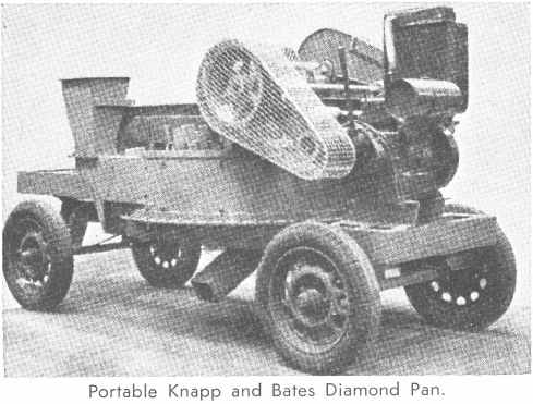 Portable Knapp and Bates Diamond Pan
