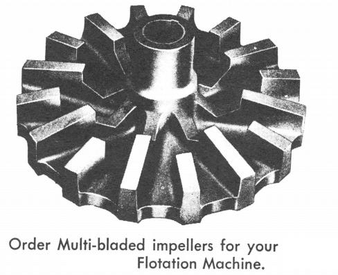 multi-blade flotation machine impeller