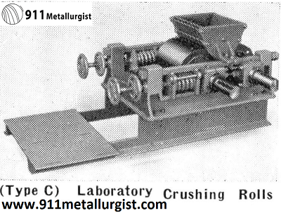 Laboratory Crushing rolls