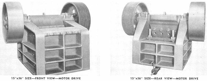 small-jaw-crusher-motor-drive