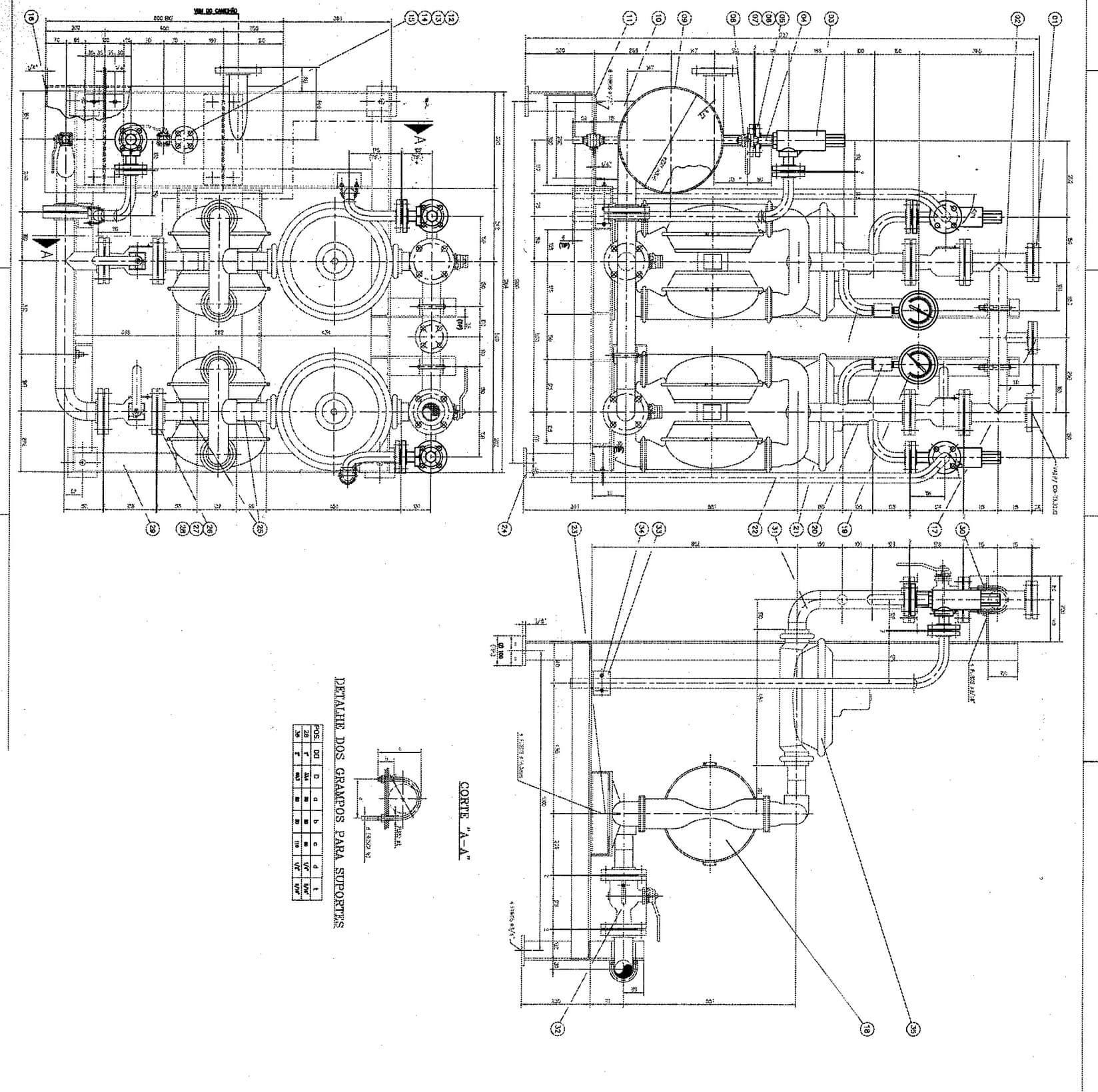 filtration plant process flow diagram