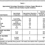 Acid Solubility of Copper Mineral Species