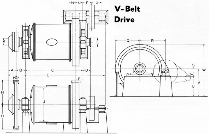 ball-mill-v-belt-drive