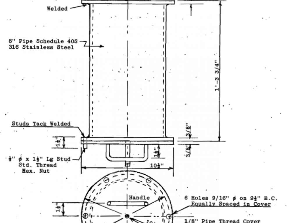 Laboratory Ball Mill Plans – Homemade Ball Mill / Rod Mill Drawing