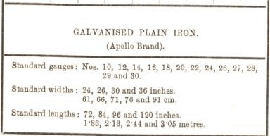 glavanised plain iron