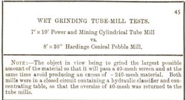 wet grinding tube mill
