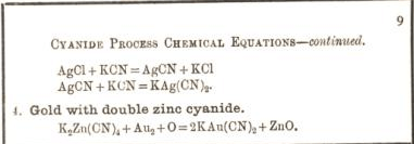 cyanide process chemical equations 9