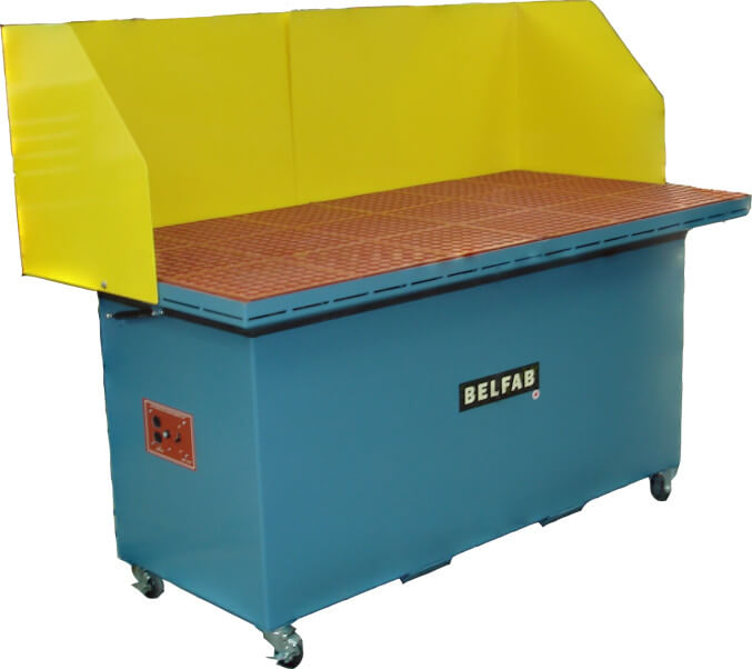 downdraft tables for metallurgy