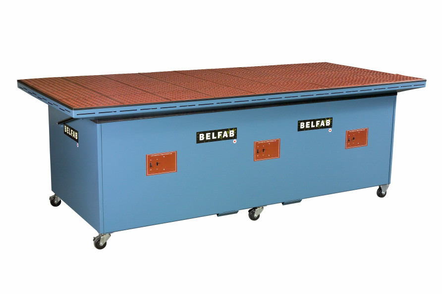 large downdraft table