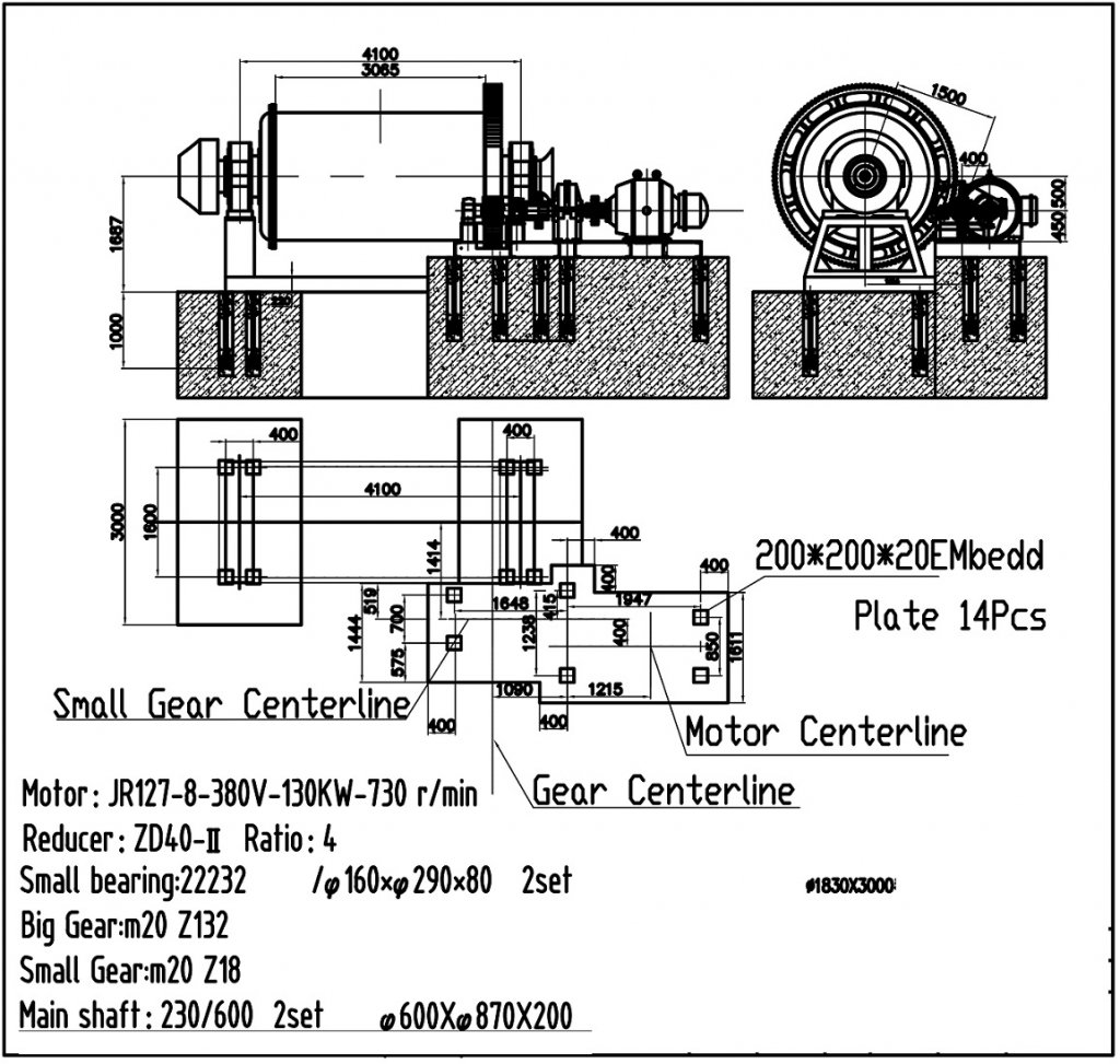 industrial ball mill drawings (2)