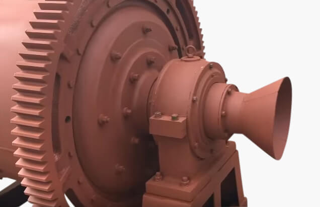 ball mill discharge trunnion