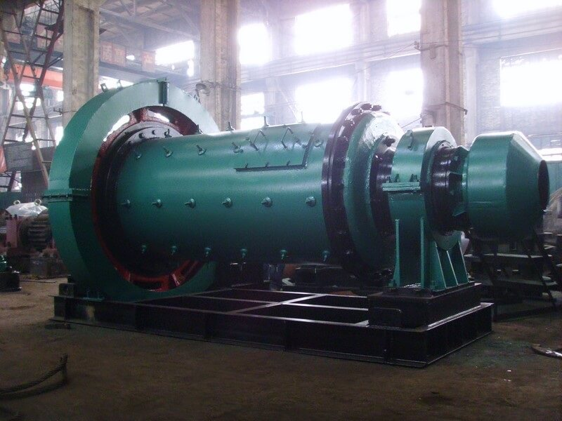 ball mill on steel frame