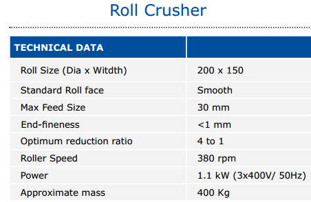 roll_crusher_specification