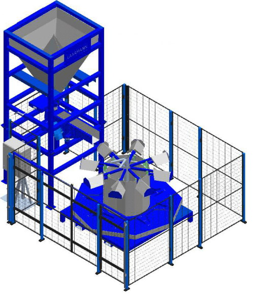 big bag to barrel with safety cage