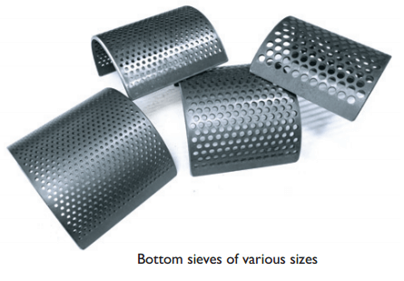 cutting mill sieves