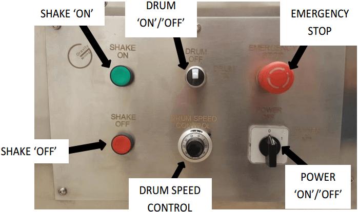 multi gravity separator drum-speed-control