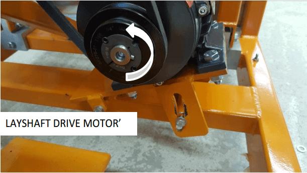 multi gravity separator layshaft-drive-motor
