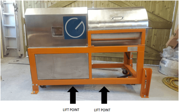 multi gravity separator lift-point