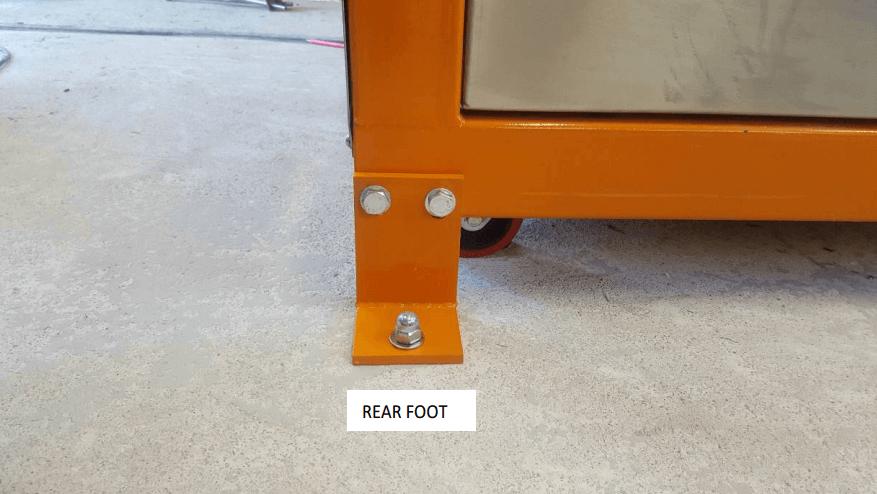 multi gravity separator rear-foot