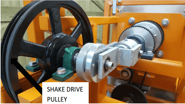 multi gravity separator shake-drive-pulley