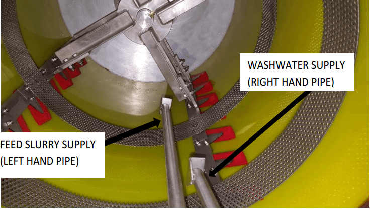 multi gravity separator wash-water-supply