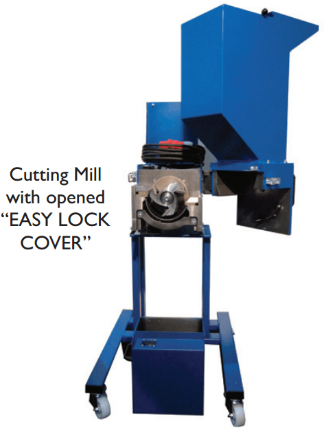 portable type of cutting mill