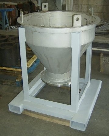 double roll crusher with feed hopper (1)