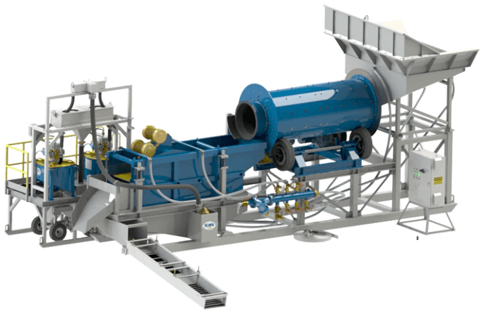 gold wash plant - scrubber and trommel