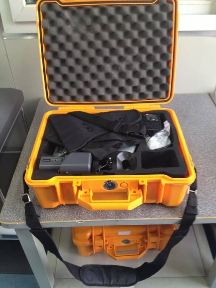 handheld xrf analyzer carrying case content