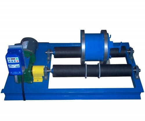 regrind laboratory ball mill on rollers