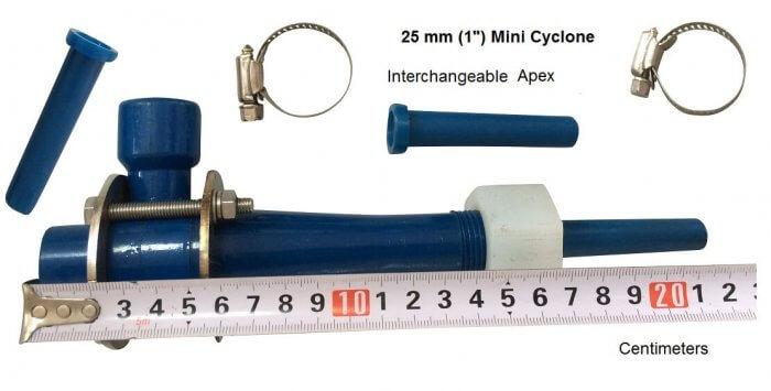 25 mm 1 inch laboratory hydrocyclone