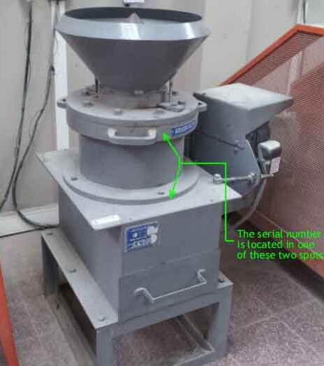 cc where to find the cone crusher serial number
